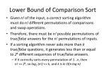 lower bound of comparison sort1
