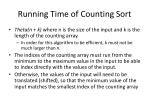 running time of counting sort