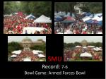 smu record 7 6 bowl game armed forces bowl