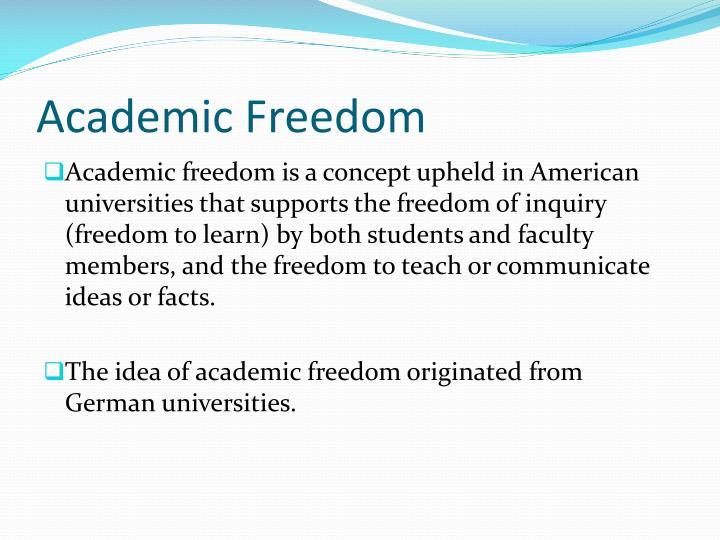 Academic freedom1