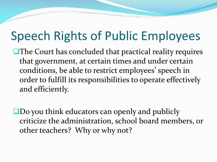 Speech Rights of Public Employees