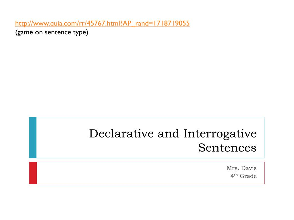 Worksheets Declarative And Interrogative Sentences Worksheets 4th Grade ppt declarative and interrogative sentences powerpoint n