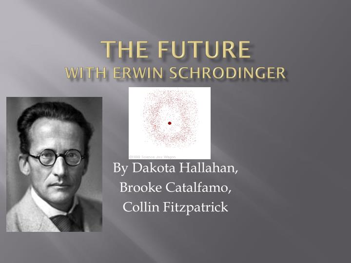 The future with erwin schrodinger