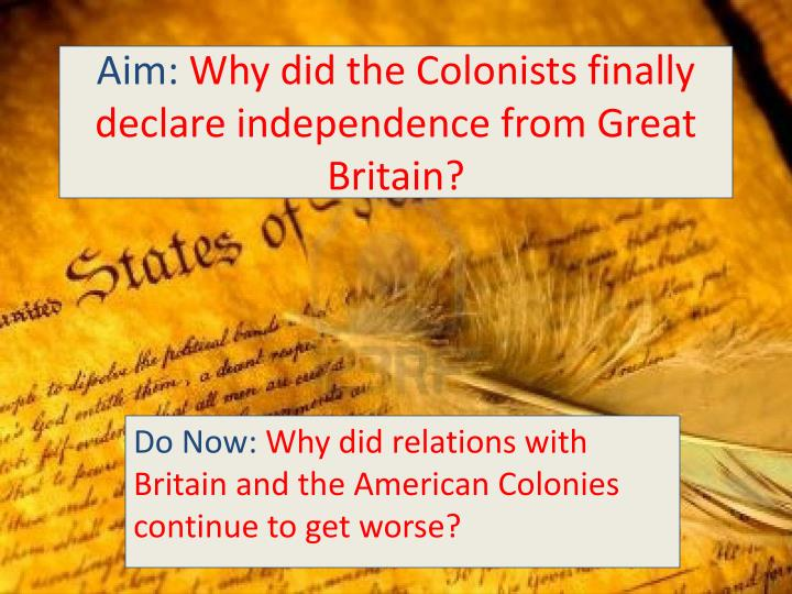 great britain and the american colonies essay 1763 marked the end of french and indian war and caused a great celebration and pride in the american colonies but, in next twelve years, the same pride was altered by at bitter and violent conflict with the mother country.