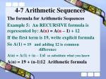 4 7 arithmetic sequences10