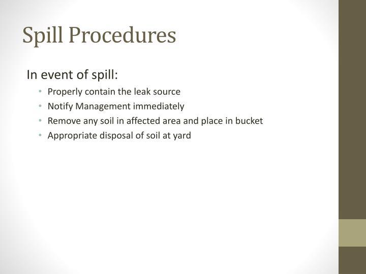 Spill Procedures