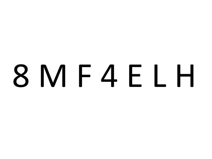 8 M F 4 E L H