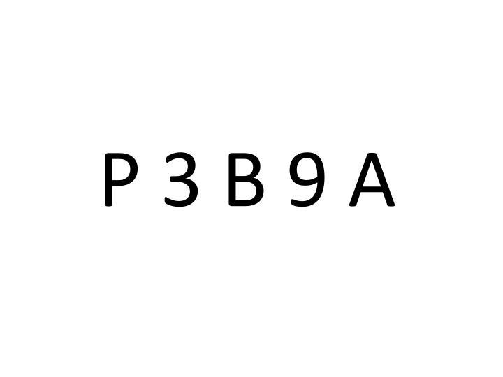 P 3 B 9 A