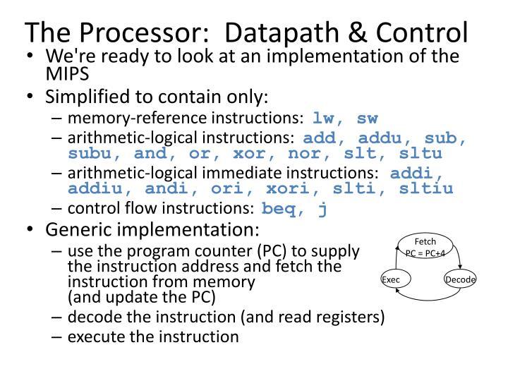 The processor datapath control
