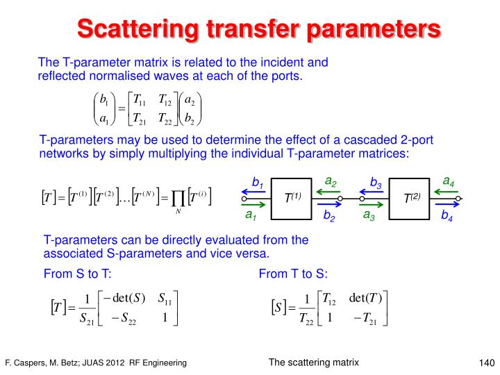Scattering transfer parameters