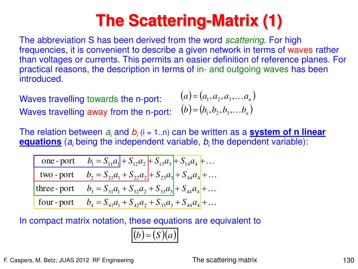 The Scattering-Matrix (1)