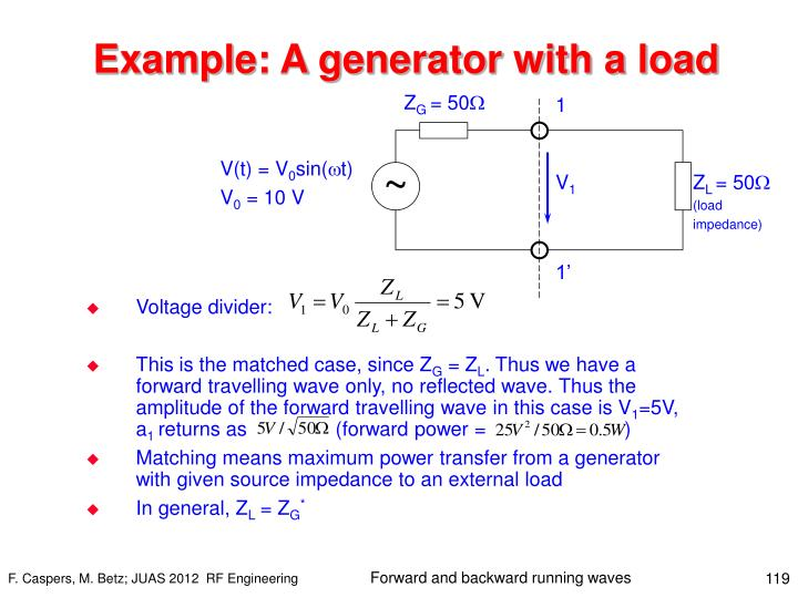 Example: A generator with a load
