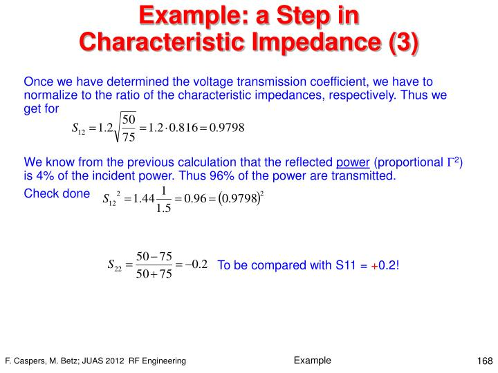 Example: a Step in Characteristic Impedance (3)