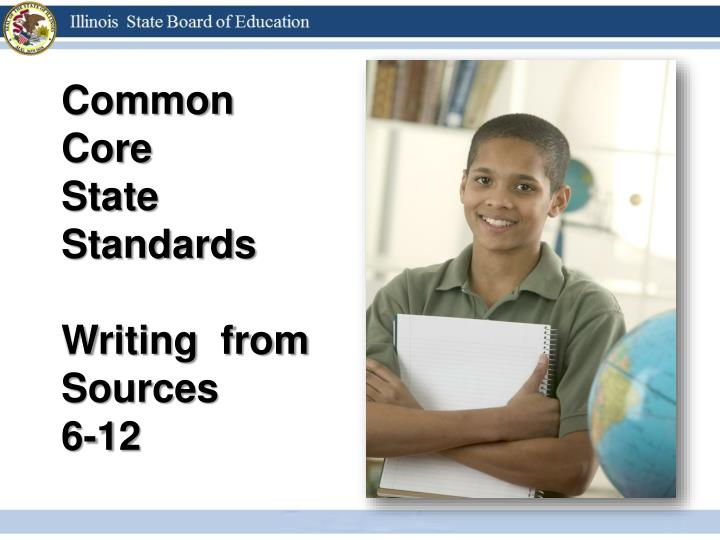 writing common core standards
