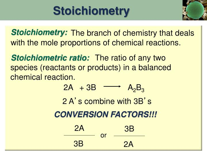mole ratio of chemical reactions Reaction stoichiometry describes the 2:1:2 ratio of hydrogen, oxygen, and water molecules in the above equation the molar ratio allows for conversion between moles of one substance and moles of another.