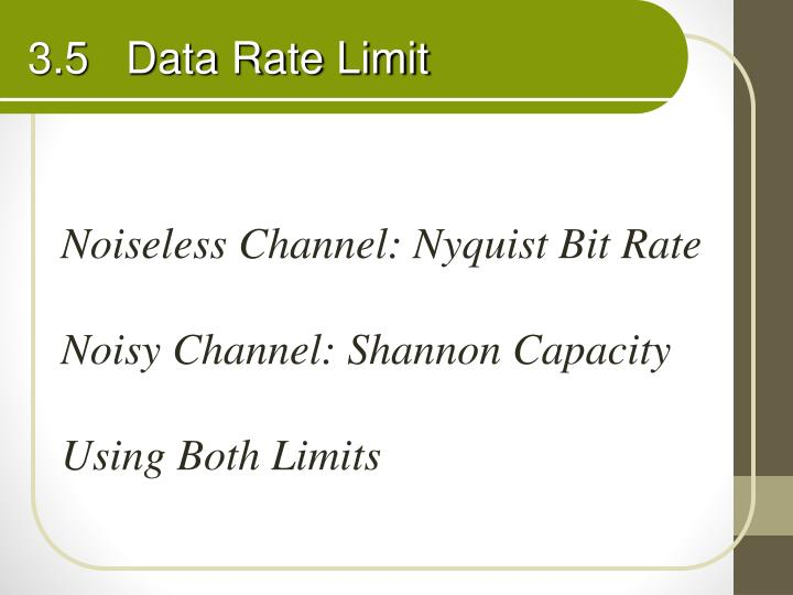 3.5   Data Rate Limit