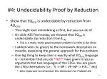 4 undecidability proof by reduction