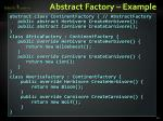abstract factory example