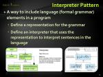 interpreter pattern