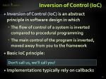 inversion of control ioc