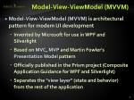 model view viewmodel mvvm