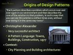 origins of design patterns