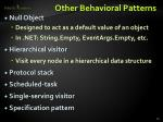 other behavioral patterns