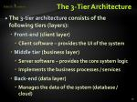 the 3 tier architecture