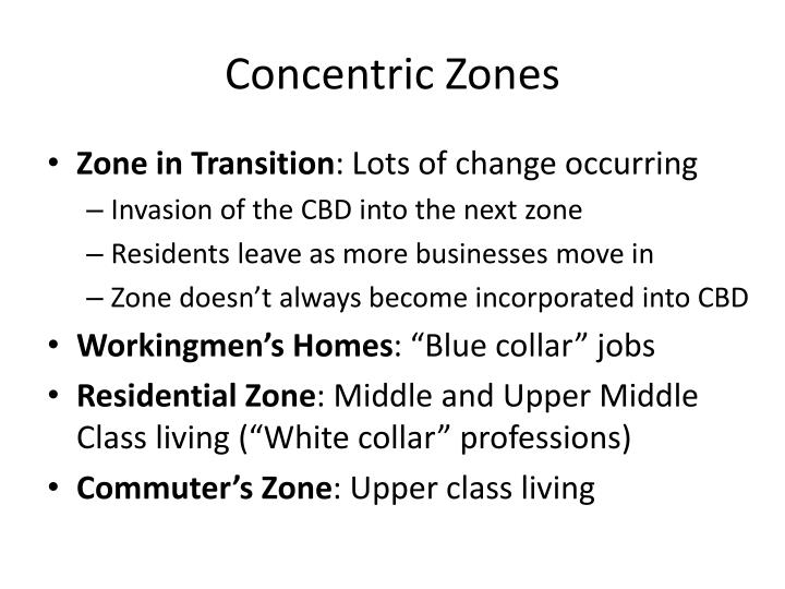 Concentric Zones