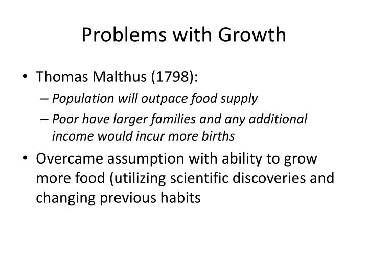 Problems with Growth