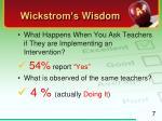 wickstrom s wisdom