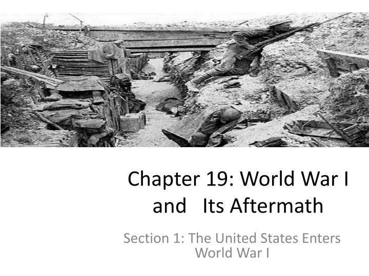 chapter 19 world war i and its aftermath n.