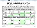 empirical evaluations 1