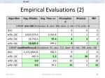 empirical evaluations 2