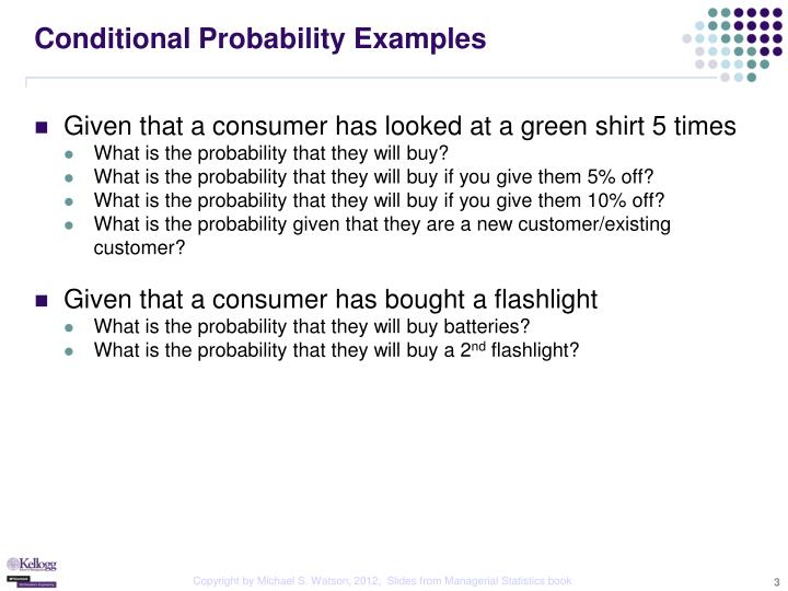 Conditional probability examples