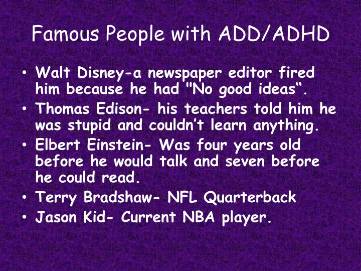 Famous People with ADD/ADHD
