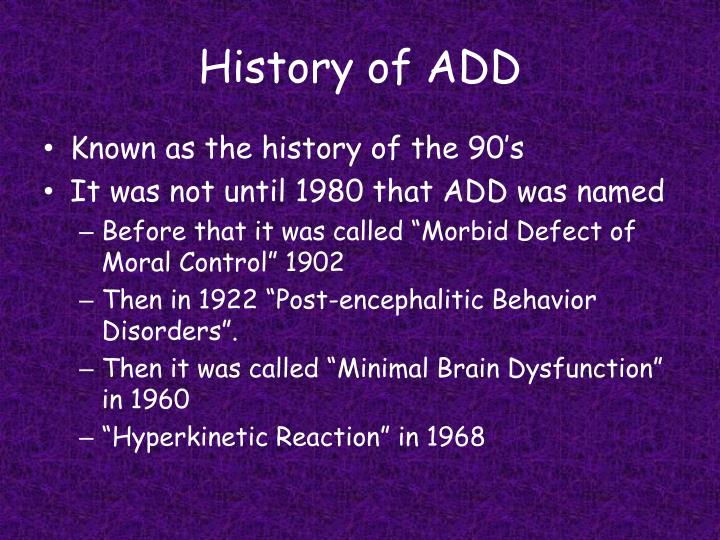 History of add