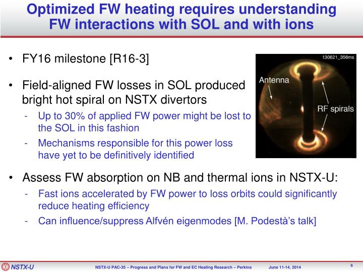 Optimized FW heating requires understanding