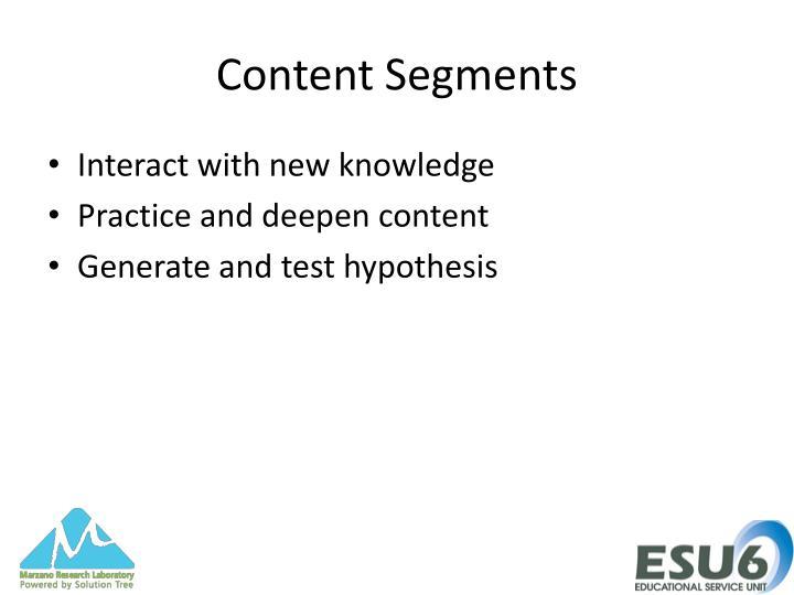 Content Segments
