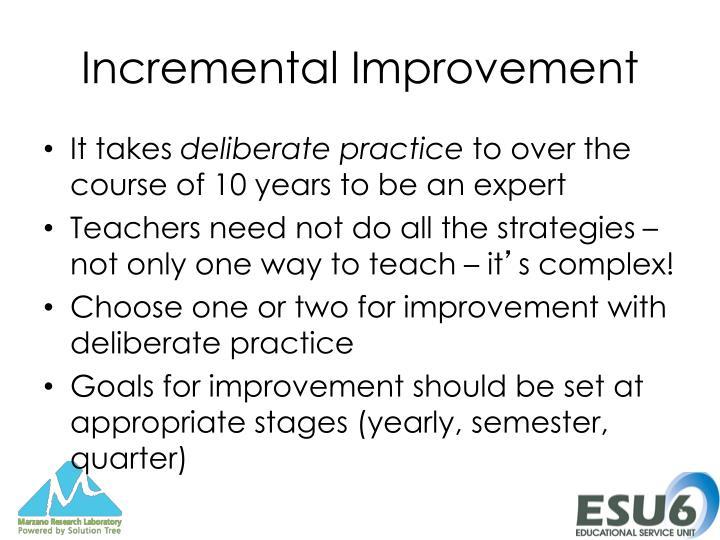 Incremental Improvement