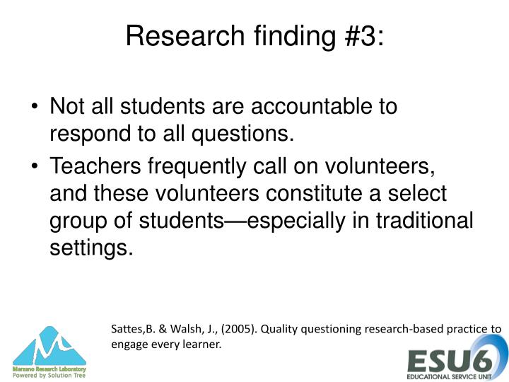 Research finding #3:
