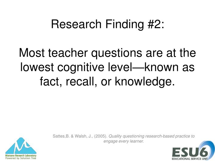 Research Finding #2: