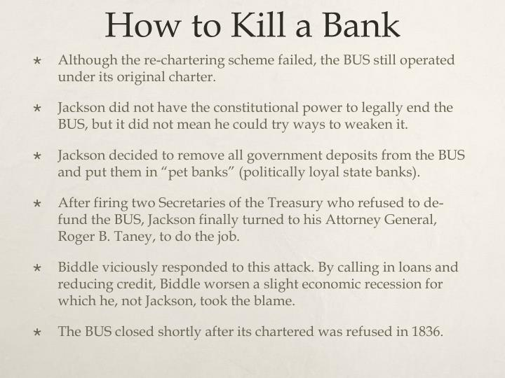 How to Kill a Bank