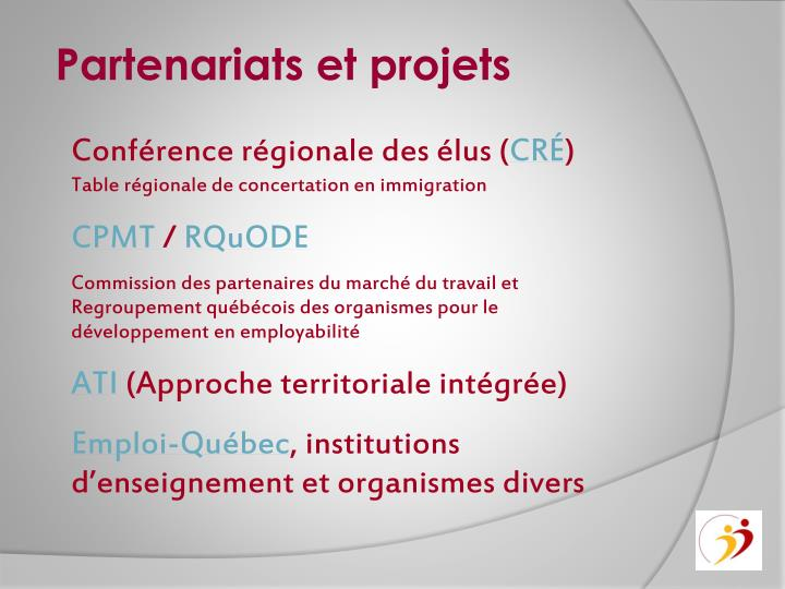 Partenariats et projets