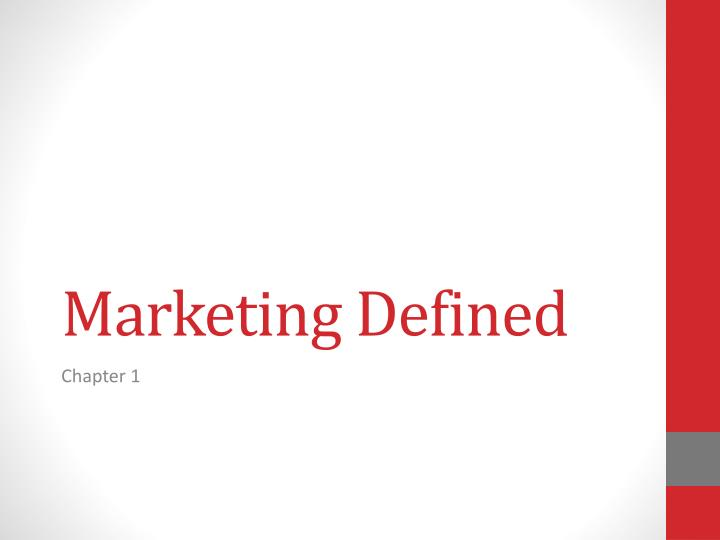 marketing definition paper Search wharton search this site marketing department menu.