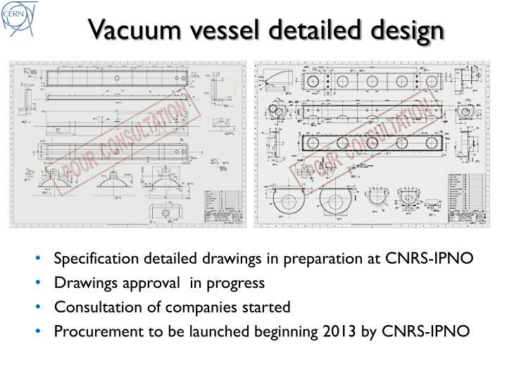Vacuum vessel detailed design