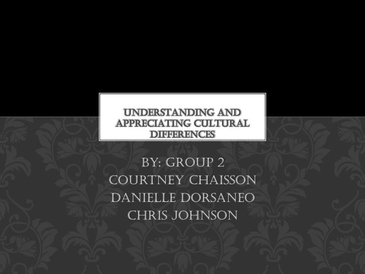 understanding and appreciating cultural differences n.