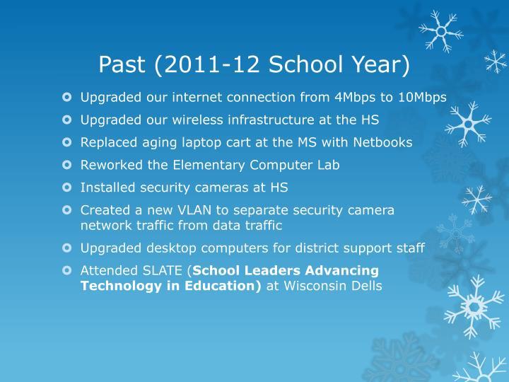 Past 2011 12 school year