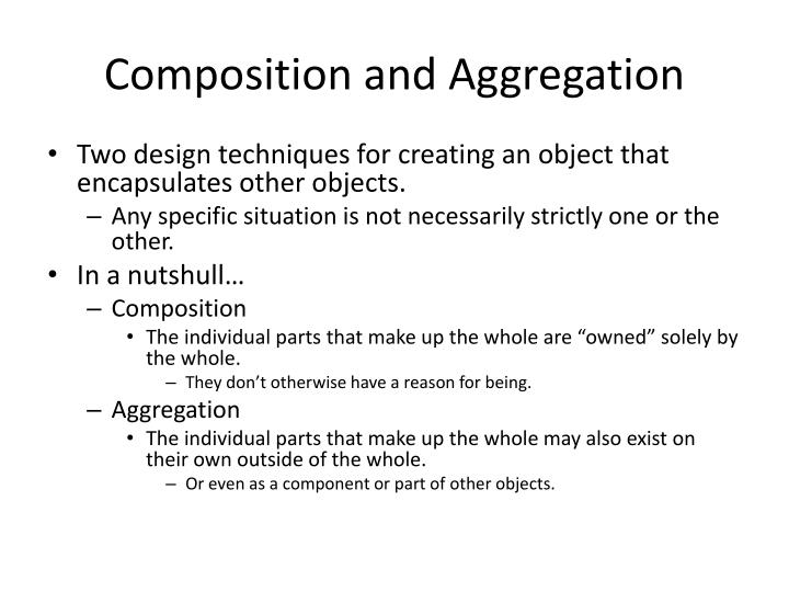 Composition and Aggregation