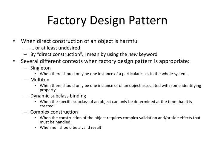 Factory Design Pattern